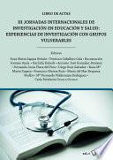 III Jornadas Internacionales de investigación en educación y salud