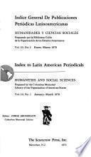 Index to Latin American periodicals