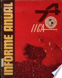 Informe Anual 74 Iica