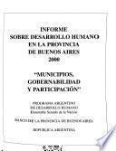 Informe sobre desarrollo humano en la provincia de Buenos Aires