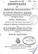 Instituciones de Derecho Eclesiástico