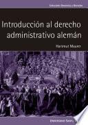 Introducción al derecho administrativo alemán