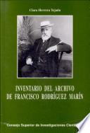 Inventario del archivo de Francisco Rodríguez Marín