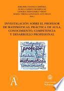 Investigación sobre el profesor de matemáticas
