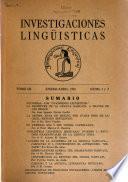 Investigaciones lingüísticas