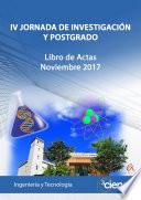 IV JORNADA DE INVESTIGACIÓN Y POSTGRADO