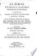La biblia Vulgata latina traducida al espanol