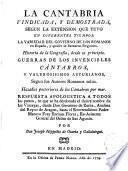 La Cantabria Vindicada y Demostrada