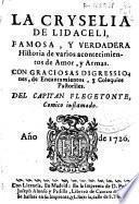 La Cryselia de Lidaceli, famosa y verdadera historia de varios acontecimientos de amor y armas