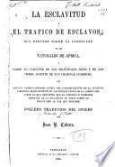 La esclavitud y el trafico de esclavos