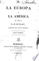 La Europa y la America en 1821