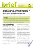 La legitimidad de las estructuras de gobernanza multinivel para la distribución de beneficios