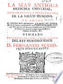 La mas antigua medicina universal, conservativa y restaurativa de la salud humana