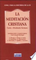 La meditación cristiana