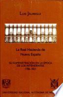 La real hacienda de Nueva España