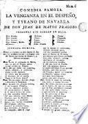 La vengansa en el Despeño y Tyrano de Navarra