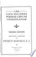 Las cien mejores poesías líricas venezolanas