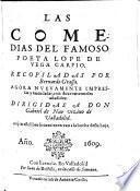 Las comedias del famoso poeta Lope de Vega Carpio