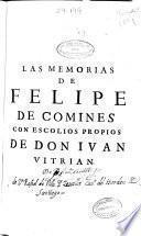 Las memorias de Felipe de Comines señor de Argenton