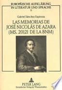 Las memorias de José Nicolás de Azara (MS. 20121 de la BNM)
