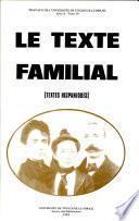 Le Texte familial