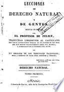 Lecciones de derecho natural y de gentes, 1