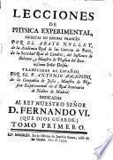 Lecciones de physica experimental escritas en francés
