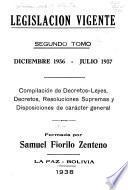 Legislación vigente desde el 17 de mayo de 1936