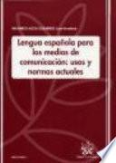 Lengua española para los medios de comunicación