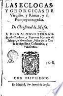 Les Eglogas y Georgicas de Virgilio y Rimas y el Pompreyo tragedia