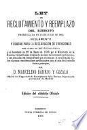 Ley de reclutamiento y reemplazo del Ejército, promulgada en 13 de julio de 1885