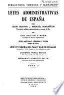 Leyes administrativas de España