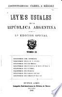 Leyes usuales de la República Argentina
