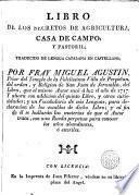 Libro de los secretos de agricultura, casa de campo, y pastoril