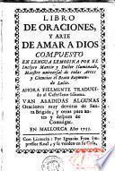 Libro de oraciones y arte de amar a Dios