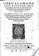 Libro llamado Antialcoran