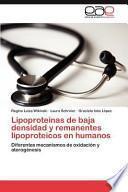 Lipoproteínas de Baja Densidad Y Remanentes Lipoproteicos en Humanos
