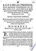 Lista de las personas, que salieron condenadas en el Auto Publico de Fè, que se celebrò en la ... Ciudad de Lisboa, el Domingo 25. de Julio de este año de 1728, etc