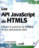 Los API JavaScript de HTML5