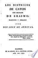 Los Disthicos de Caton con escolios de Erasmo