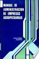 Manual de Administracion de Empresas Agropecuarias