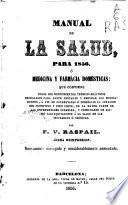 Manual de la Salud para 1856, o Medicina y Farmácia domésticas