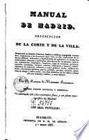 Manual de Madrid : descripcion de la corte y de la Villa
