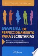 Manual de perfeccionamiento para secretarias