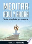 Meditar aquí y ahora. Técnica de Meditación Para tu Despertar.