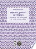 Memoria, política y pedagogía