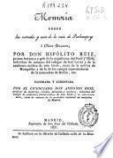 Memoria sobre las virtudes y usos de la raiz de purhampuy ó china peruana
