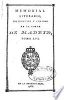 Memorial literario instructivo y curioso de la Corte de Madrid