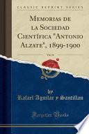 Memorias de la Sociedad Científica Antonio Alzate, 1899-1900, Vol. 14 (Classic Reprint)