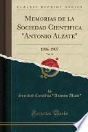 Memorias de la Sociedad Cientifica Antonio Alzate, Vol. 24